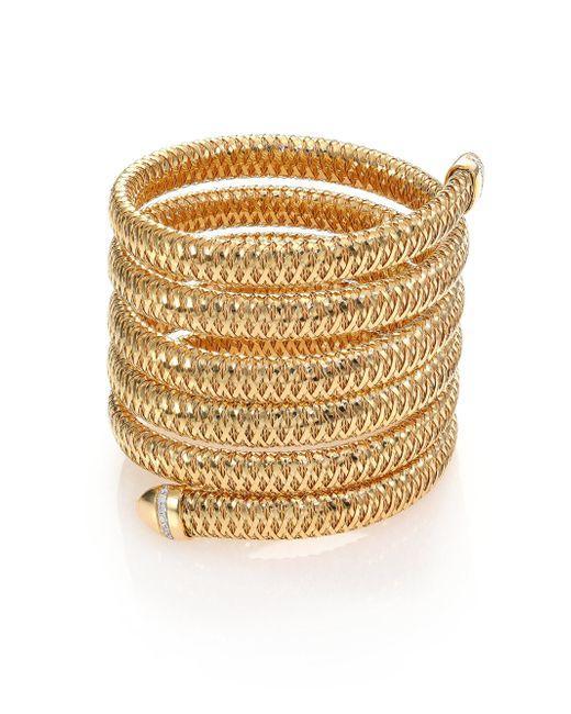 Roberto Coin - Metallic Primavera Diamond & 18k Yellow Gold Six-row Wrap Bracelet - Lyst