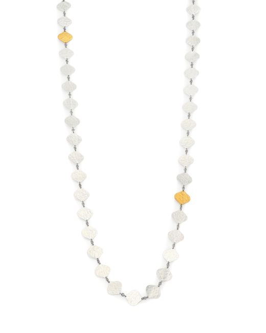 Gurhan | Metallic Clove 24k Yellow Gold & Sterling Silver Marquis Chain Necklace | Lyst