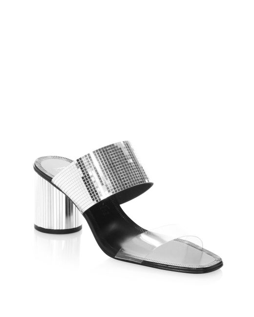 Pedro Garcia - Metallic Xara Slip-on Sandals - Lyst
