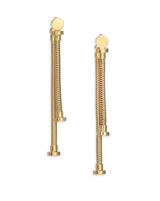 House of Lavande - Metallic Batari Nail-head Double-sided Drop Earrings - Lyst