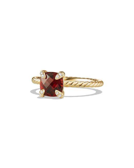 David Yurman - Metallic Chatelaine Ring With Gemstone And Diamonds In 18k Gold - Lyst