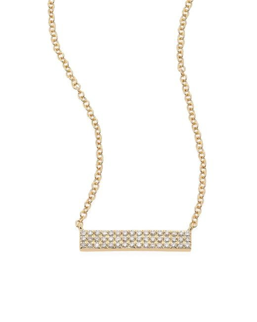 EF Collection - Metallic Mini Jumbo Bar Diamond & 14k Yellow Gold Pendant Necklace - Lyst
