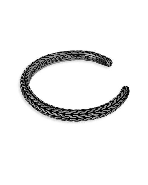 John Hardy | Metallic Classic Rhodium-plated Silver Cuff Bracelet | Lyst