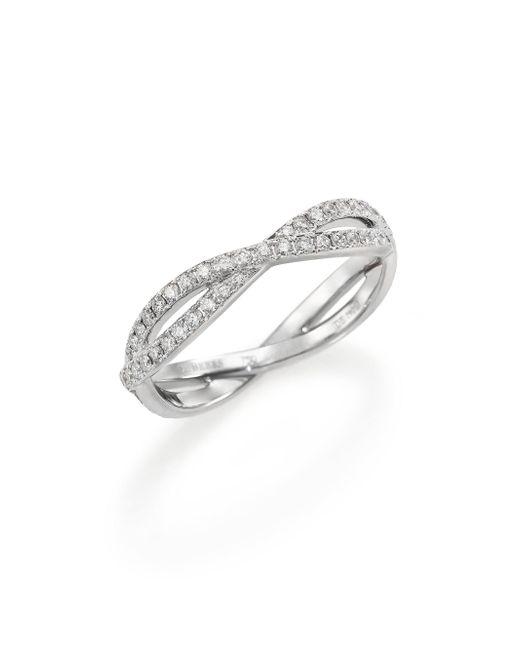 De Beers | Metallic Infinity Diamond & 18k White Gold Full Band Ring | Lyst