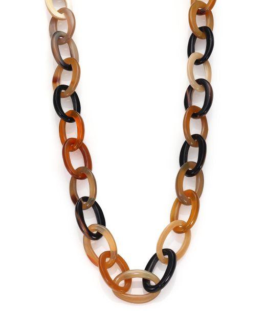 Nest | Brown Natural Horn Long Link Necklace | Lyst