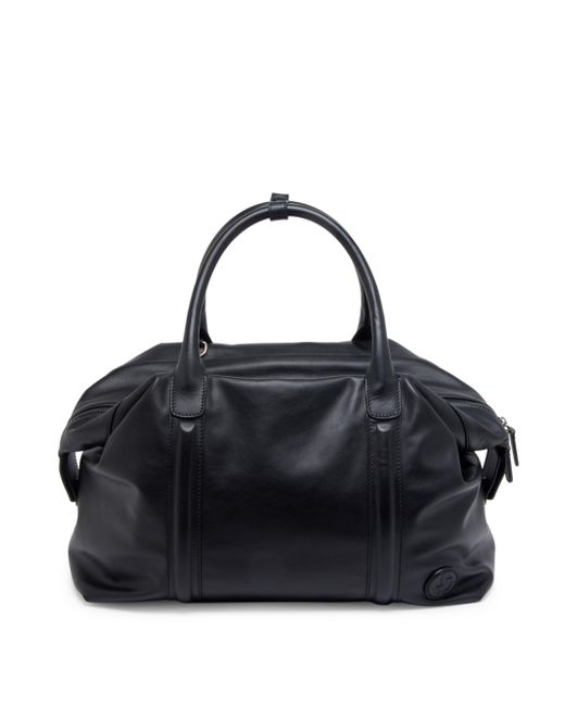 Giorgio Armani | Black Leather Weekender Bag for Men | Lyst