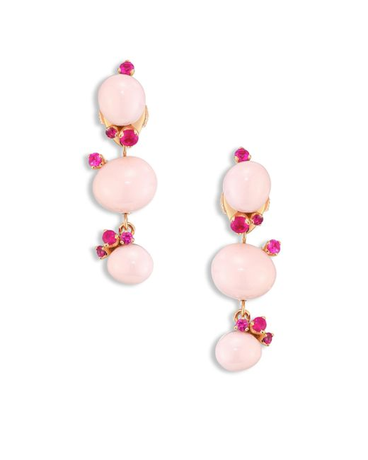 Pomellato | Rubies, Pink Ceramic & 18k Rose Gold Drop Earrings | Lyst