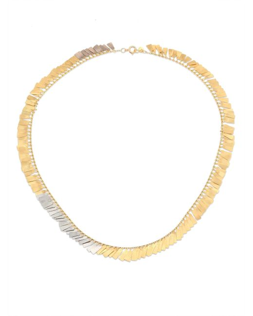 Sia Taylor | Metallic Fringe 18k Yellow & White Gold Necklace | Lyst