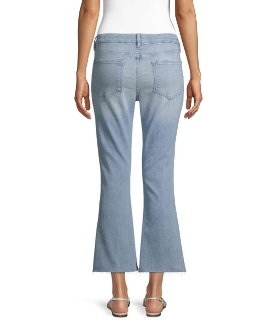 Lyst - Frame Le Cropped Denim Jeans in Blue