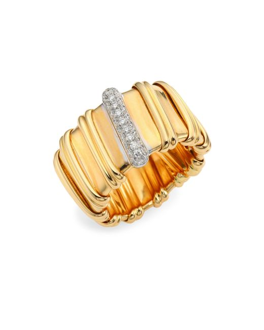Roberto Coin - Metallic Nabucco Diamond & 18k Rose Gold Ring - Lyst