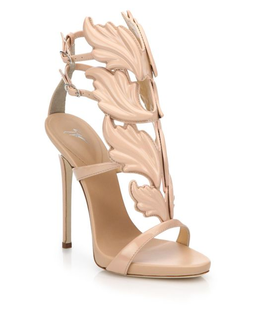 Giuseppe Zanotti - Pink Leather Wing Sandals - Lyst