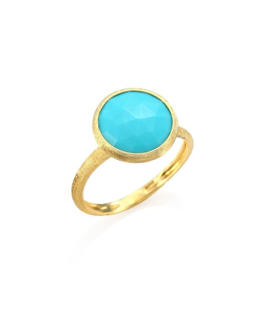 Marco Bicego - Multicolor Jaipur Turquoise & 18k Yellow Gold Ring - Lyst