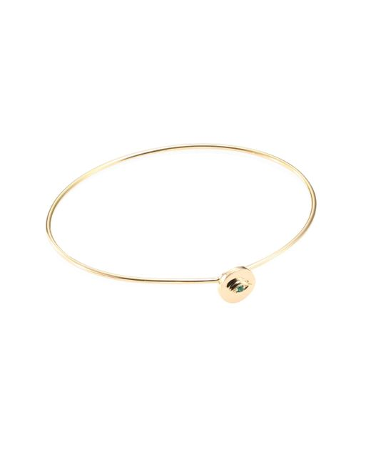Delfina Delettrez | Metallic Sliding Drops Eye Emerald & 18k Yellow Gold Hook Bangle | Lyst