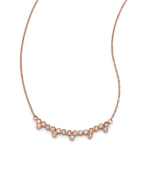 Jacquie Aiche | Metallic Diamond & 14k Rose Gold Multi-bezel Necklace | Lyst