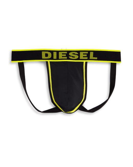 DIESEL | Black Jock Strap Underwear for Men | Lyst