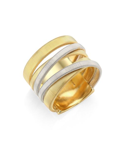Marco Bicego - Metallic Masai 18k Yellow & White Gold Five-strand Ring - Lyst