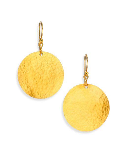 Gurhan - Metallic Lush 24k Yellow Gold Dangling Flake Drop Earrings - Lyst