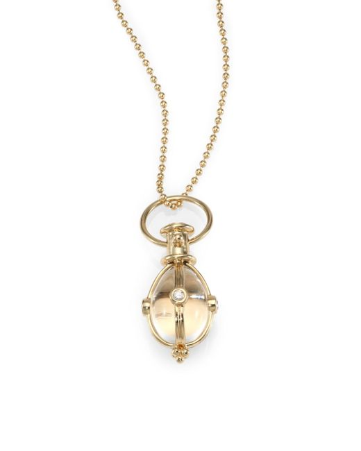 Temple St. Clair - Metallic Classic Rock Crystal, Diamond & 18k Yellow Gold Amulet - Lyst