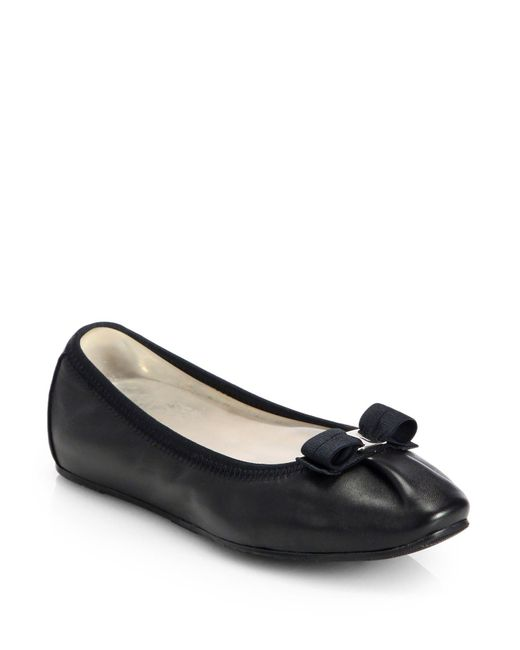 Ferragamo - Black 'my Joy' Flat - Lyst