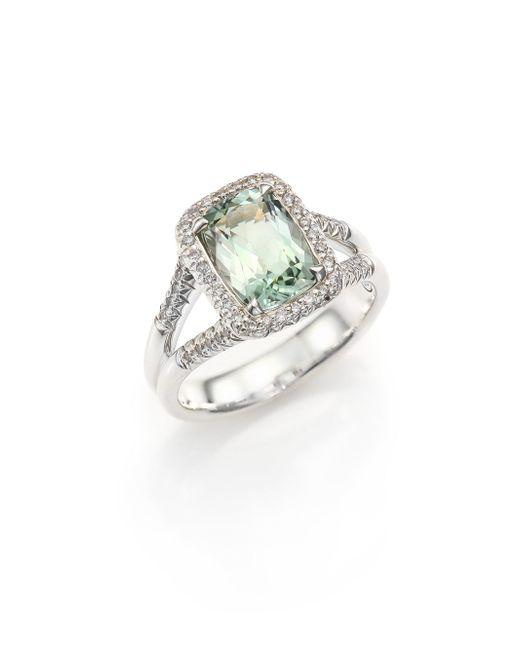 John Hardy - Green Classic Chain Diamond, Prasiolite & Sterling Silver Ring - Lyst