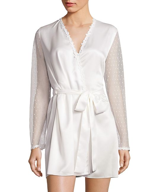 Flora Nikrooz | White Showstopper Venise Lace Robe | Lyst