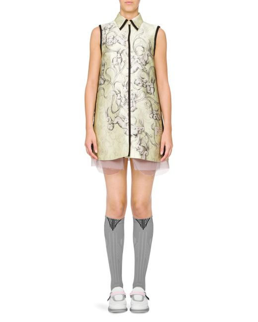 Prada - Green Bunny-print Vest Dress - Lyst