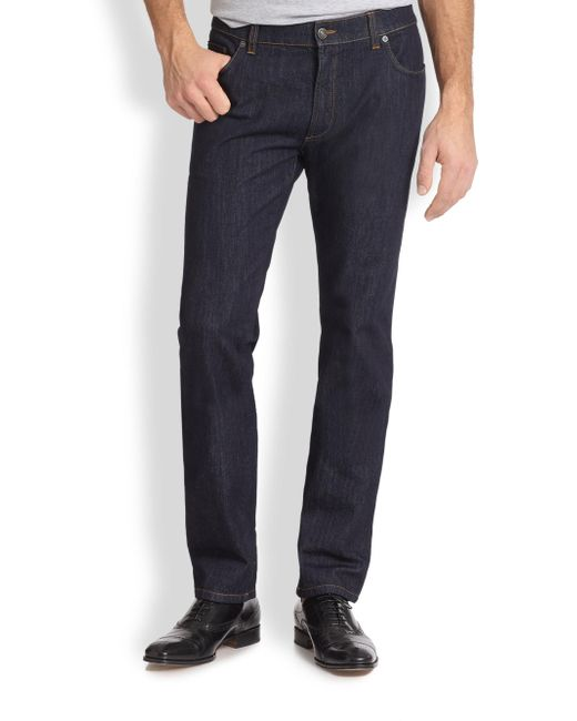 Ferragamo | Blue Five-pocket Straight-leg Jeans for Men | Lyst