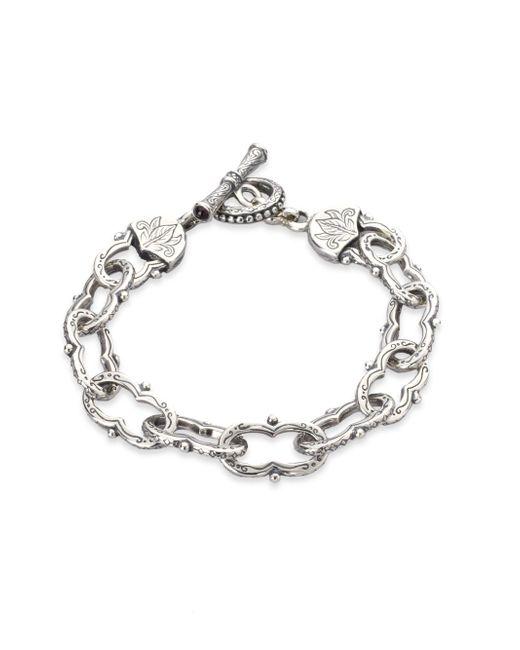 Konstantino - Metallic Classics Sterling Silver Toggle Bracelet - Lyst