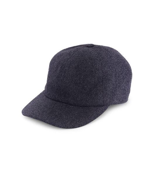 Brunello Cucinelli - Blue Flannel Baseball Hat for Men - Lyst
