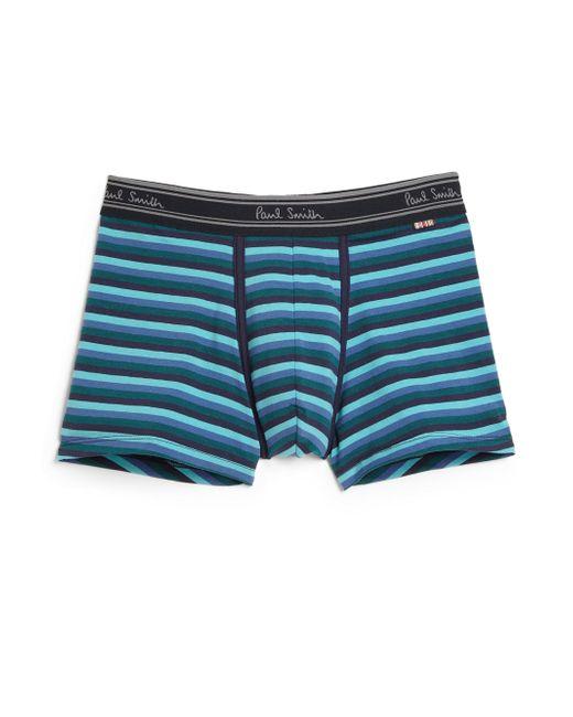 Paul Smith - Blue Multi-striped Knit Trunks for Men - Lyst
