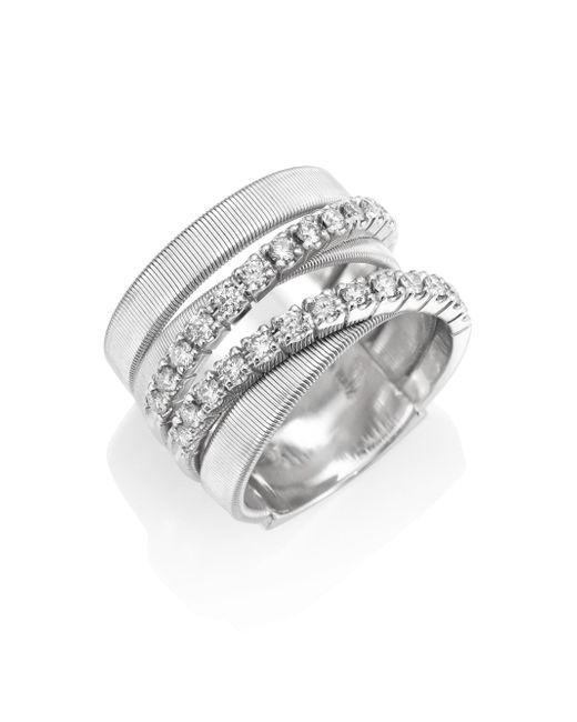 Marco Bicego | Metallic Masai Diamond & 18k White Gold Five-strand Ring | Lyst