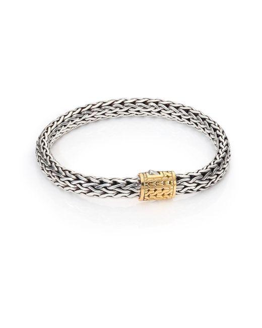 John Hardy - Metallic Classic Chain Medium 18k Yellow Gold & Sterling Silver Bracelet - Lyst