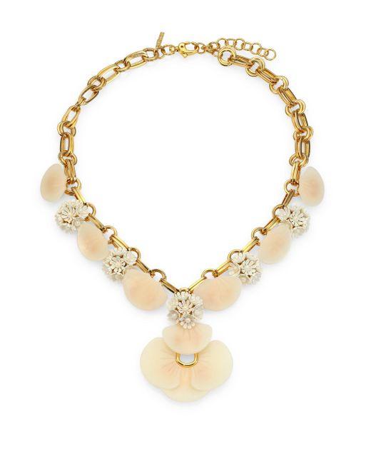 Lele Sadoughi - Metallic Island Shell Necklace - Lyst