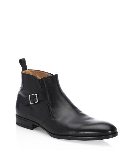 Saks Fifth Avenue | Black Collection Zip Leather Ankle Boots for Men | Lyst