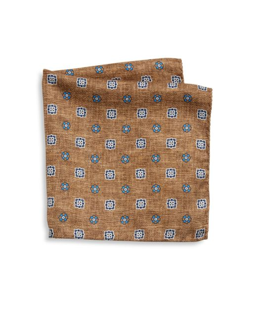Saks Fifth Avenue | Brown Collection Flower Diamond Printed Pocket Square for Men | Lyst