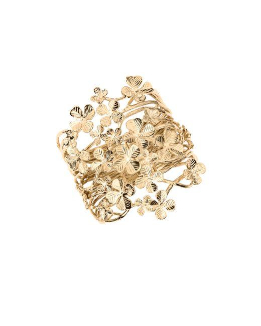 Aurelie Bidermann | Metallic Tamar Clover Cuff Bracelet | Lyst