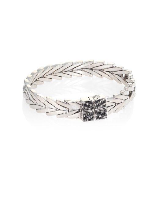 John Hardy | Metallic Modern Chain Black Spinel & Sterling Silver Bracelet | Lyst