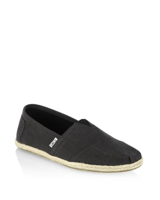 TOMS - Black Classic Slip On Espadrilles for Men - Lyst