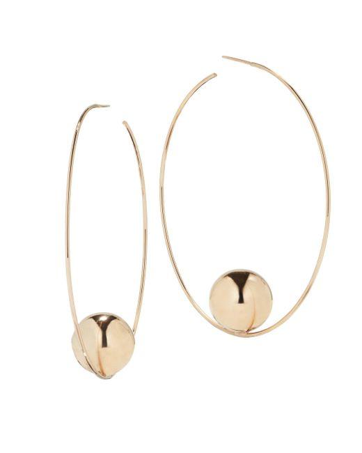Lana Jewelry - Metallic 14k Yellow Gold Wire Hoop Earrings - Lyst
