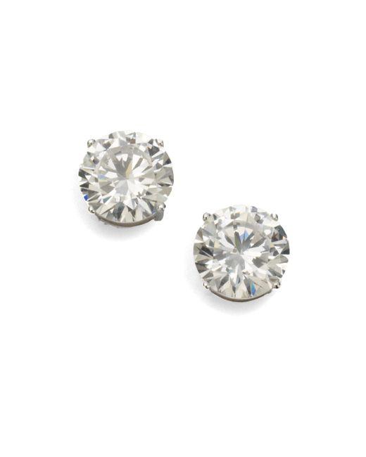 Adriana Orsini | Metallic Sterling Silver 4 Carat Stud Earrings | Lyst