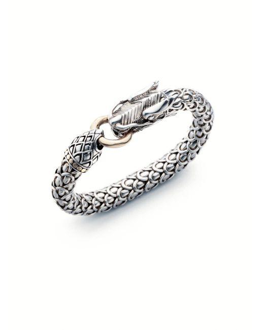 John Hardy - Metallic Sterling Silver & 18k Yellow Gold Bracelet - Lyst