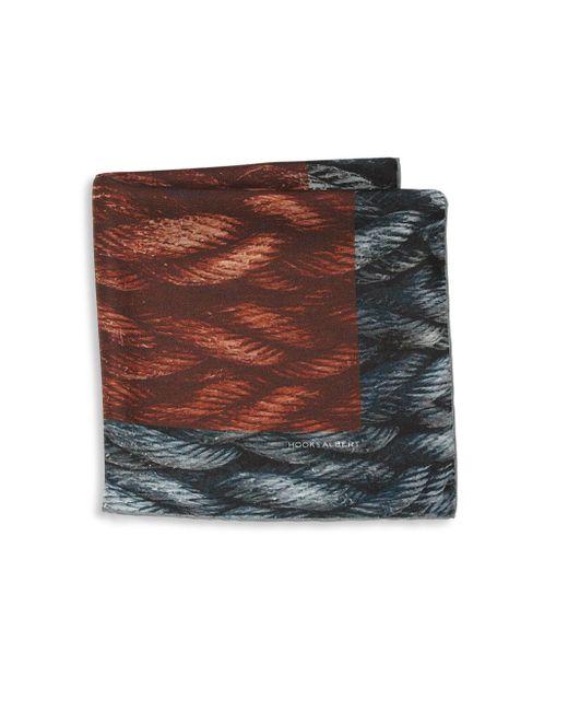 Hook + Albert - Multicolor Mystic Rope Sling Silk Pocket Square - Lyst