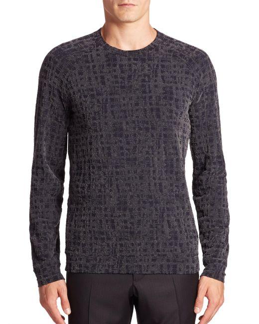 Giorgio Armani - Gray Static Print Sweater for Men - Lyst