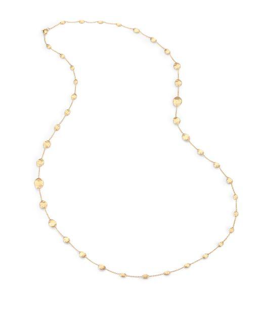 Marco Bicego | Metallic Siviglia 18k Yellow Gold Station Necklace | Lyst