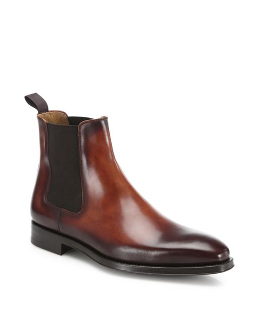 Saks Fifth Avenue | Multicolor Saks Fifth Avenue By Magnanni Leather Chelsea Boots for Men | Lyst