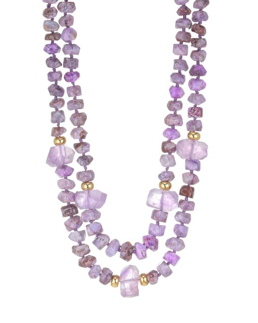 Nest - Purple Agate And Amethyst Necklace - Lyst