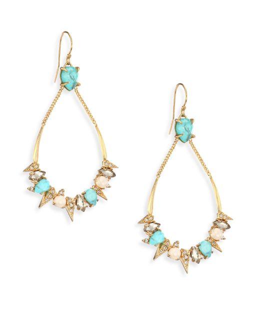 Alexis Bittar   Metallic Elements Pave Spike Crystal Drop Earrings   Lyst