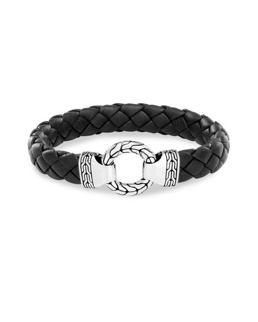 John Hardy - Black Silver Classic Chain Bracelet for Men - Lyst