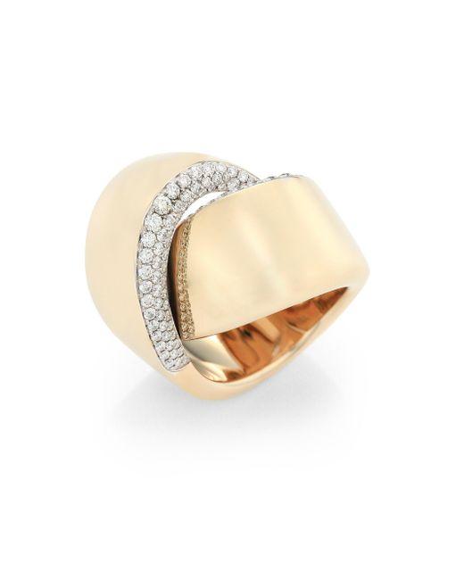 Vhernier - Metallic Abbraccio Diamond & 18k White Gold Ring - Lyst