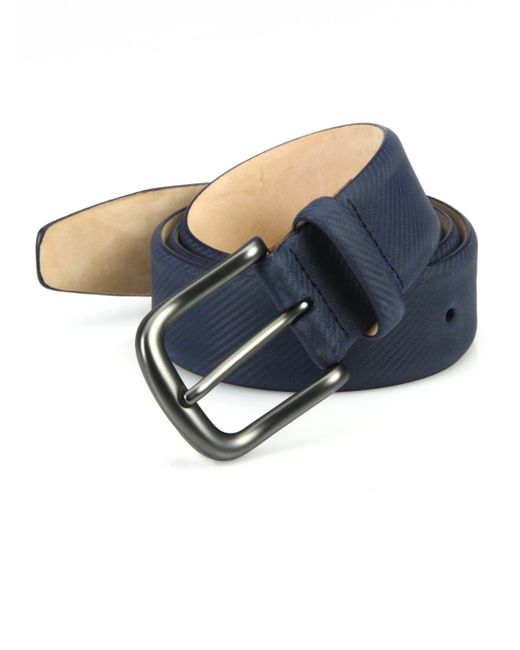 Saks Fifth Avenue - Blue Collection Textured Micro Carbon Belt for Men - Lyst